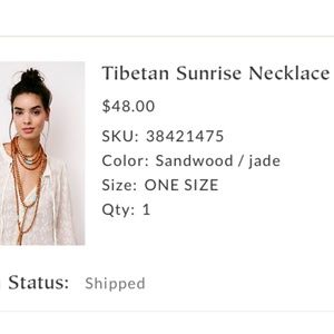 Anthropologie Tibetan Sunrise Necklace